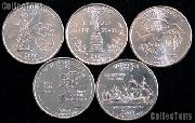 2000 Quarters Set of 5 BU Coins 2000 State Quarters Philadelphia (P) Mint