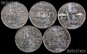 2001 Quarters Set of 5 BU Coins 2001 State Quarters Philadelphia (P) Mint