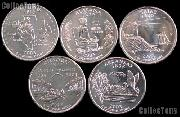 2003 Quarters Set of 5 BU Coins 2003 State Quarters Denver (D) Mint