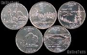 2005 Quarters Set of 10 BU Coins 2005 State Quarters P & D Mints