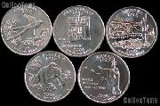 2008 Quarters Set of 10 BU Coins 2008 State Quarters P & D Mints