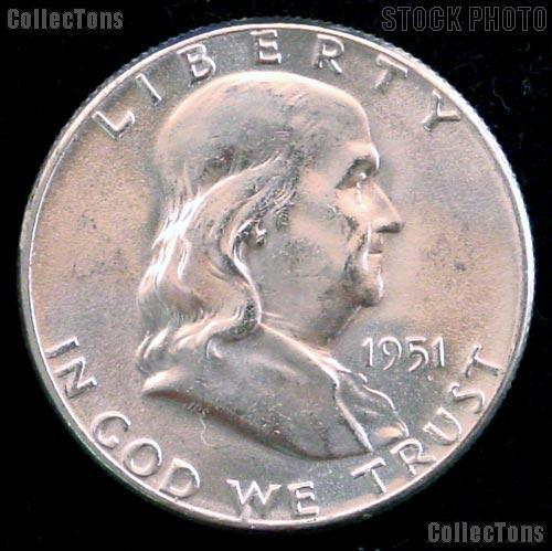 1951-S Franklin Half Dollar Silver * Choice BU 1951 Franklin Half