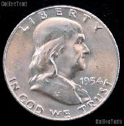 1954-S Franklin Half Dollar Silver * Choice BU 1954 Franklin Half