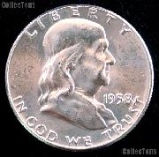 1958-D Franklin Half Dollar Silver * Choice BU 1958 Franklin Half