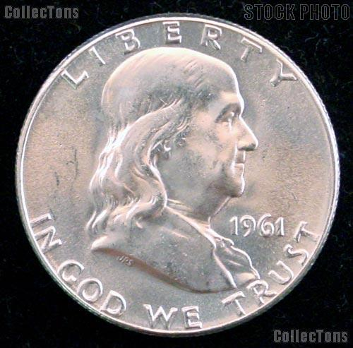 1961 Franklin Half Dollar Silver * Choice BU 1961 Franklin Half