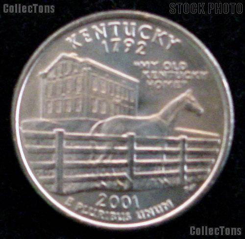 Kentucky Quarter 2001-D Kentucky Washington Quarter * GEM BU for Album