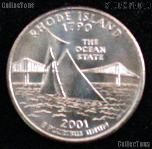 Rhode Island Quarter 2001-D Rhode Island Washington Quarter * GEM BU
