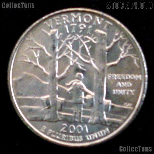 Vermont Quarter 2001-P Vermont Washington Quarter * GEM BU for Album