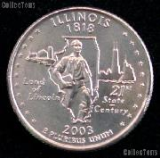 Illinois Quarter 2003-P Illinois Washington Quarter * GEM BU for Album
