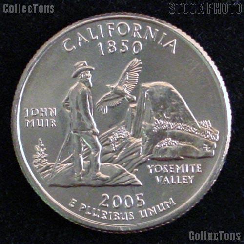 California Quarters 2005 P & D California Washington Quarters GEM BU