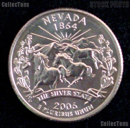 Nevada Quarter 2006-P Nevada Washington Quarter * GEM BU for Album