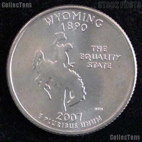 Wyoming Quarter 2007-P Wyoming Washington Quarter * GEM BU for Album
