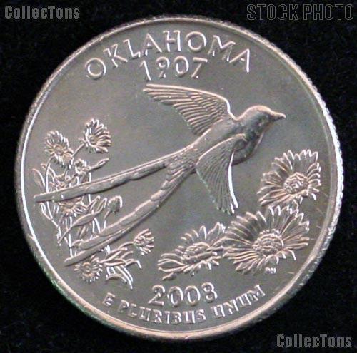 Oklahoma Quarter 2008-P Oklahoma Washington Quarter * GEM BU for Album