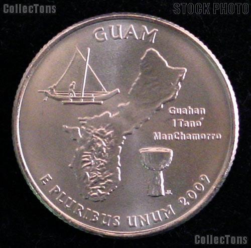 Guam Quarter 2009-D Guam Washington Quarter * GEM BU for Album