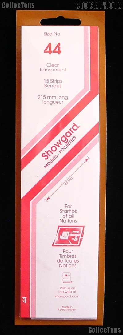 Showgard Strip Style Clear Stamp Mounts Size 44