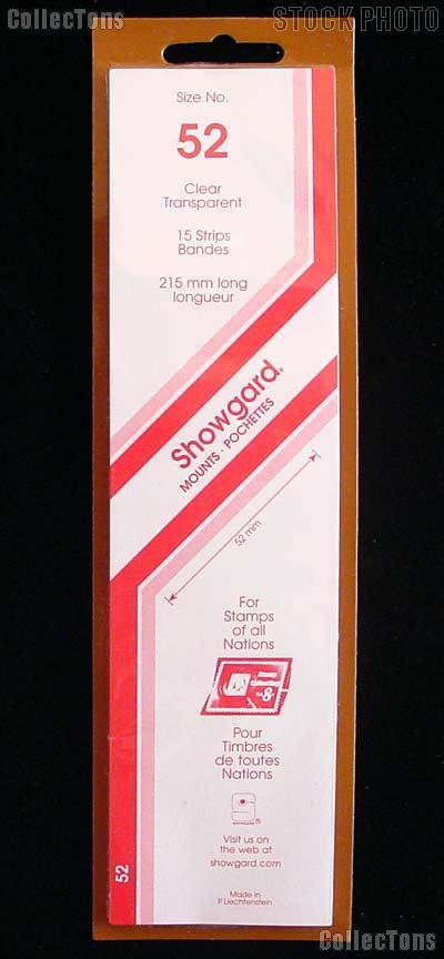 Showgard Strip Style Clear Stamp Mounts Size 52
