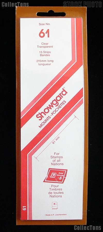 Showgard Strip Style Clear Stamp Mounts Size 61