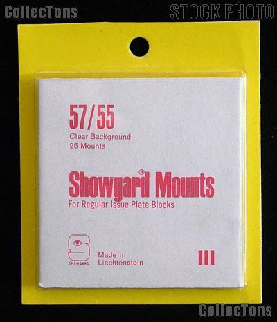Showgard Pre-Cut Clear Stamp Mounts Size 57/55