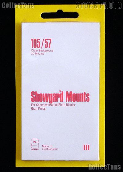 Showgard Pre-Cut Clear Stamp Mounts Size 105/57