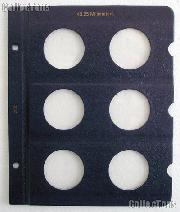 Whitman Page for 43.25mm Coins Blank Whitman Album Page