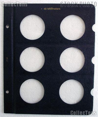 Whitman Page for 48mm Coins Blank Whitman Album Page