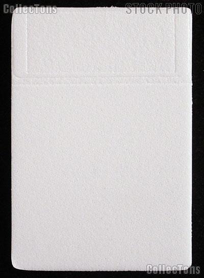 Slab Stamp Holder Inserts for STAMPS by BCW 25 Pack White