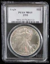 1993 American Silver Eagle Dollar in PCGS MS 69
