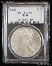 1994 American Silver Eagle Dollar in PCGS MS 69