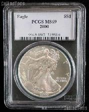 2000 American Silver Eagle Dollar in PCGS MS 69