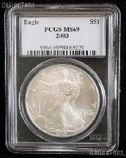 2003 American Silver Eagle Dollar in PCGS MS 69