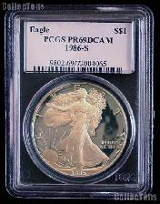 1986-S American Silver Eagle Dollar PROOF in PCGS PR 69 DCAM