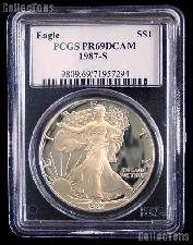 1987-S American Silver Eagle Dollar PROOF in PCGS PR 69 DCAM