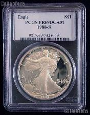 1988-S American Silver Eagle Dollar PROOF in PCGS PR 69 DCAM