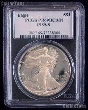 1989-S American Silver Eagle Dollar PROOF in PCGS PR 69 DCAM