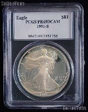 1991-S American Silver Eagle Dollar PROOF in PCGS PR 69 DCAM
