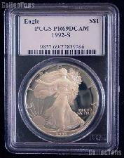 1992-S American Silver Eagle Dollar PROOF in PCGS PR 69 DCAM