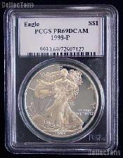 1998-P American Silver Eagle Dollar PROOF in PCGS PR 69 DCAM
