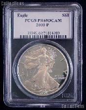 2000-P American Silver Eagle Dollar PROOF in PCGS PR 69 DCAM