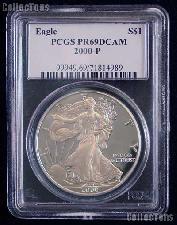 2000-P American Silver Eagle Dollar PROOF in PCGS PR 69 DCAM