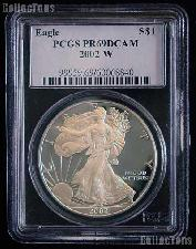 2002-W American Silver Eagle Dollar PROOF in PCGS PR 69 DCAM