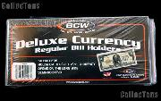Currency Sleeves Modern Size by BCW Pack of 50 Deluxe Currency Holders