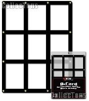 Trading Cards Display Frame by BCW 9 Card Screwdown Holder w/ Black Border