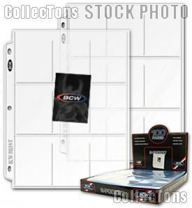 Trading Card Page 9-Pocket by BCW Box of 100 Pro 9-Pocket Trading Card Pages