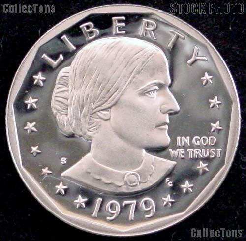 1979-S Susan B. Anthony Dollar -  RARE Type 2 Clear S - Gem Proof