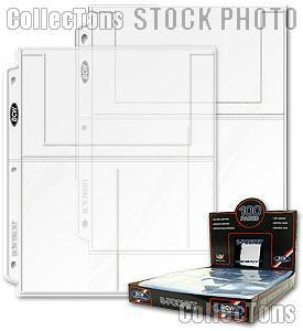 4x6 Photo Page 3-Pocket by BCW Box of 100 Pro 3-Pocket 4 x 6 Photo Pages