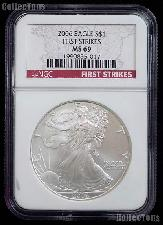 2006 American Silver Eagle Dollar FIRST STRIKE in NGC MS 69