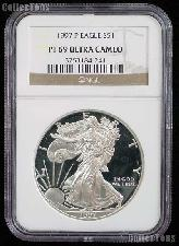 1997-P American Silver Eagle Dollar PROOF in NGC PF 69 ULTRA CAMEO