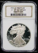 2001-W American Silver Eagle Dollar PROOF in NGC PF 69 ULTRA CAMEO