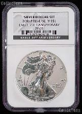 "2006-P American Silver Eagle Dollar REVERSE PROOF in NGC Special Label ""Eagle 20th Anniversary"" PF 69"