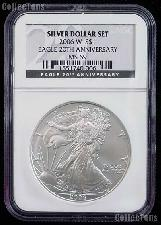 2006-W American Silver Eagle Dollar Burnished in NGC MS 69 20th Anniversary